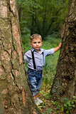 Boy in stylish clothing posing for the camera