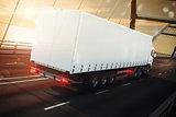 Road transport. 3D Rendering