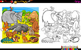 animal group coloring book