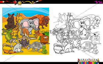 animals group for coloring