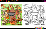 dog characters coloring book