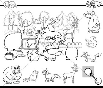 cartoon activity for coloring