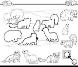 cartoon activity coloring page