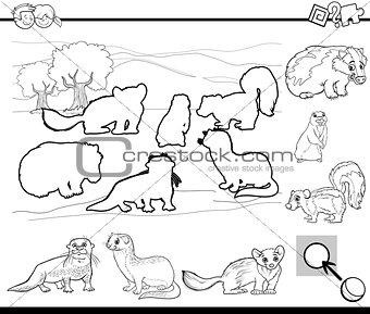 cartoon activity coloring page