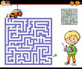 maze or labyrinth activity task