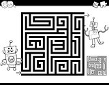 maze or labyrinth coloring page