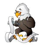 Cute eagle bookkeeper