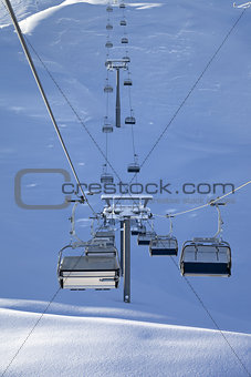 Chair-lift at early morning