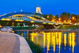 Gediminas Tower and Mindaugas Bridge, Vilnius