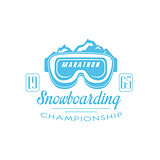 Marathon Snowboarding Emblem Design