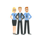 Three Managers Teamwork Illustration