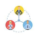 Time And Tusk Sharing Teamwork Illustration