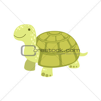 Tortoise Stylized Childish Drawing