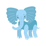 Elephant Stylized Childish Drawing