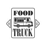 Food Truck Square Label Design