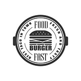 Best Burger In Town Label Design