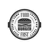 Best Burger In Town Label Design