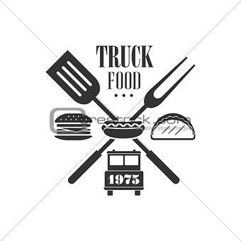 Food Truck Label Design