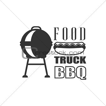 Bbq Fod Truck Label Design
