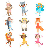 Kids Dressed As Animals Set