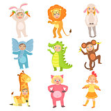 Kids In Animal Costumes Set