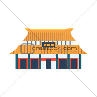 Classic Chinese Style House Simplified Icon