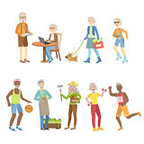 Active And Modern Old People