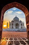 Sunrise at Taj Mahal