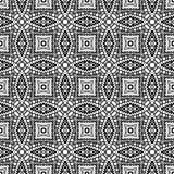 Black and white geometric seamless patterns.