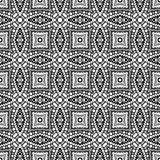 Black and white geometric seamless patterns.