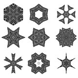 Set of Different Ornamental Rosettes