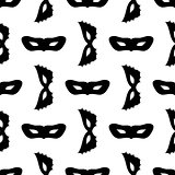 Silhouette of Masks Seamless Pattern
