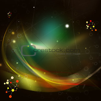 Abstract background with energy waves