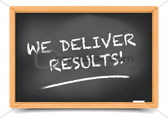 Blackboard We Deliver Results