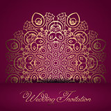 Decorative wedding invitation