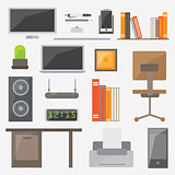 Modern design flat icon vector collection concept