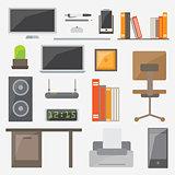 Modern design flat icon vector collection concept