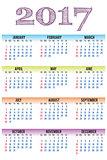 vector calendar 2017, template
