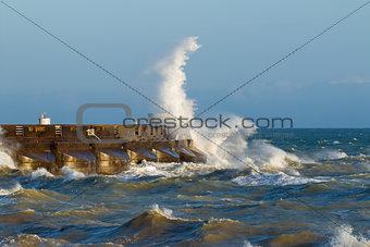 Brighton Marina Sea Spray