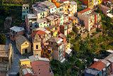 Panorama of Manarola, Cinque Terre, Liguria, Italy