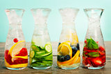 Detox fruit infused flavored water