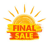 final sale with sun sign, drawn label