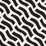 Vector Seamless Diagonal Lines Grungy Pattern