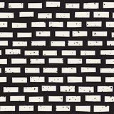 Vector Seamless Horizontal Lines Grungy Brick Pattern