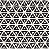 Vector Seamless Black And White Hand Drawn Triangle Lines Pattern