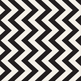 Vector Seamless Black And White Triangle Lines Grid Pattern