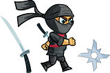 Running Ninja Game Sprite.vector illustration