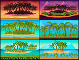 Set of Tropical Game Backgrounds