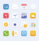 Vector generic smartphone or tablet user interface icon set