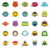 Vector badges and ribbons